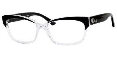 edb1ec59374 Christian Dior 3197 0K4X Black Crystal Blac eyeglasses