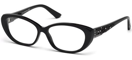ba471a9745 Daniel Swarovski SK5083 001 Shiny Black eyeglasses