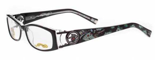 963914fbcc64 Ed Hardy Eho 718 BKCR Black  Crystal eyeglasses