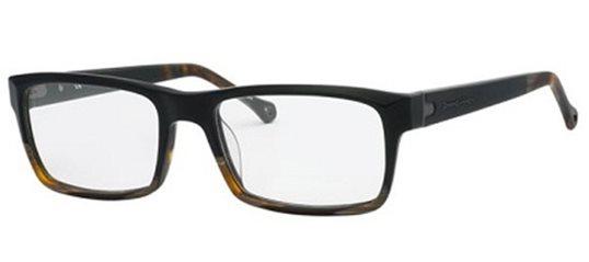 21f5a1614972 Ermenegildo Zegna VZ3638 94NM Matte Black Shaded Dark Havana eyeglasses