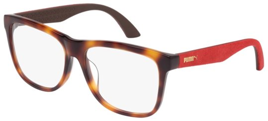 c9394f902b Puma PU0044OA 003 AVANA   RED eyeglasses