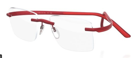 5743925e6a Silhouette SPX MATCH 2896 6050 Red eyeglasses